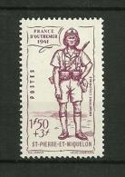 St.Pierre Et Miquelon  1941    N° 209     Défense De L'Empire       Neuf Avec Trace De Charnière - Neufs
