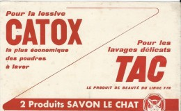 Savon Le Chat / CATOX/ TAC /Vers 1950   BUV162 - Papel Secante
