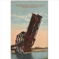 CND1760C-LFTD2658TTSC.Tarjeta Postal De CANADA.Puente Basculante.FORT WILLIAN.ONTARIO.Grandes Lagos - Postales