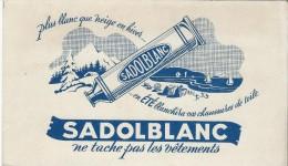Sadol Blanc / Produit à Blanchir  Les Chaussures En Toile  /Vers 1950   BUV164 - Buvards, Protège-cahiers Illustrés