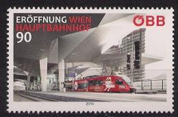 2014.10 10  Austria **MNH Eröffnung Wien Hauptbahnhof - 2011-... Nuevos & Fijasellos