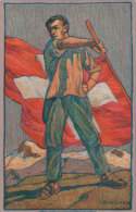Carte Fête Nationale Suisse 1912, Oblitérée 1.8.1912 (605) - Other