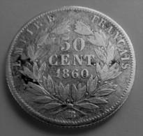 50 Centimes 1860 BB - Francia