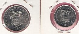 ECUADOR 10 + 50 SUCRES 1988 - Equateur