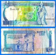 Malte 5 Liri 1994 Loi De 1967 Serie B 23 Malta Skrill Paypal Bitcoin OK - Malte
