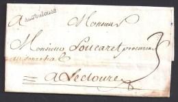 Haute Garonne - De Toulouse  Sur Lettre De 1739 - Storia Postale