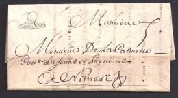 Haute Garonne - DE TOULOUSE  Encadré  Sur Lettre De 1740 - Storia Postale