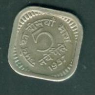 Inde 5 Naye Paise 1957 (Bombay)- Pieb66010 - Inde