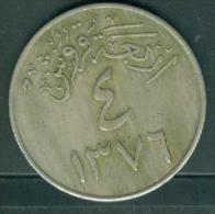 SAUDI ARABIA: 4 Girsh 1956 Pieb66011 - Arabia Saudita