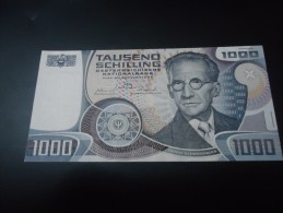 1983 AUSTRIA RARE 1000 SCHILLING ( P 152 ) - UNC / aUNC -