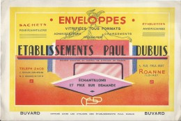 Etablissements Paul DUBUIS/ Enveloppes Vitrifiées Tous Formats /ROANNE/Loire  /Vers 1950     BUV182 - Stationeries (flat Articles)