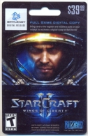 StarCraft, Wings Of Liberty Game On Line U.S.A., Card For Collection, No Value,   # G-378 - Gift Cards