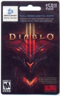 Diablo Game On Line U.S.A., Card For Collection, No Value,   # G-379 - Gift Cards
