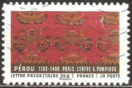 France - 2011 - Tapis Du Monde – Pérou - YT Adhésif 521 Oblitéré - France
