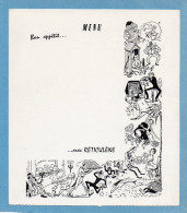 """MENU--illustré---publicité """"RETICULENE"""" Carte Ayant Voyagé PP 1960 - Menus"""