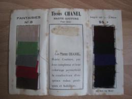 Echantillons tissus Chanel , haute couture , grands magasins du louvre .