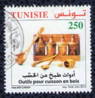 TUNISIE 2013 Oblitération Ronde Used Stamp Outils Pour Cuisson En Bois - Tunisia