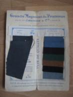 Echantillons tissus grands magasins du louvre Paris , comptoir des lainages .