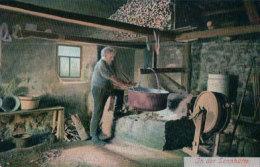 In Der Sennhütte, Le Fromager De Montagne (9225) Pli D'angle - Paysans