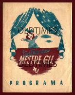 PORTUGAL - LISBOA - TEATRO DO MESTRE GIL - 1943 OLD PROGRAM - Programs