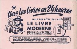 Le Livre Moderne / Librairie-papeterie/ 2 Place Stalingrad / SURESNES/ /Vers 1950     BUV184 - Stationeries (flat Articles)