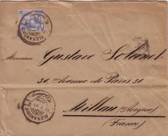 EGYPTE - ALEXANDRIE - LE 31-1-1890 LETTRE POUR LA FRANCE. - Ägypten