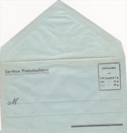 Enveloppe Vierge Du Service Pneumatique - Postal Stamped Stationery