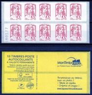 "CARNET DE DISTRIBUTEUR ""MonTimbraMoi"" / 10 TIMBRES MARIANNE DE CIAPPA-TVP 20g ROUGE / NEUF - Carnets"