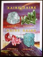 ZAIRE Mineraux, Yvert 1529/32 ** MNH, Neuf Sans Charniere - Minéraux
