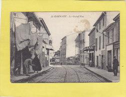 CPA - ST BARNABE - La Grande Rue -  Tramway - Commerces - Otros Municipios