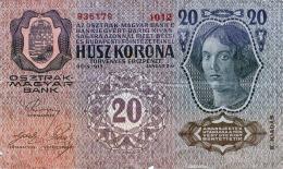 20 KRONEN Österreich-Ungarn 1913, Banknote, Umlaufschein - Autriche