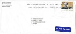 CANADA - 2013 - Raoul Wallenberg - Schutz-pass - Viaggiata Da Westbury P. Per Adazi, Riga - Cartas