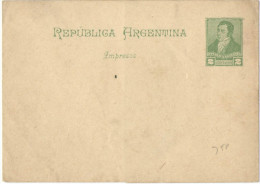 ARGENTINA - ARGENTINE - Intero Postale - Entier Postal - WRAPPER 2 CENTAVOS - Not Used - Interi Postali