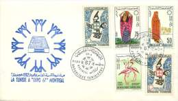 1967  Montreal Expo '67   Complete Set On FDC Cancelled At Expo'67 - Tunisia