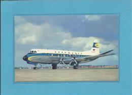 LUFTHANSA - VISCOUNT 814 - 2 Scans - 1946-....: Moderne