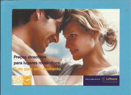 LUFTHANSA - 50 ANOS  Em PORTUGAL - ADVERTISING - DESTINOS ROMANTICOS 2005 - 2 Scans - Advertising