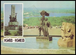 USSR 1990. UKRAINE, KIEV. PANORAMA On DNIPRO RIVER, MONUMENTS. Stamped Stationery Postcard (**) - 1923-1991 URSS
