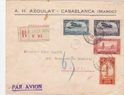MAROC  LETTRE RECOMMANDEE POUR LA BELGIQUE - Maroc (1891-1956)