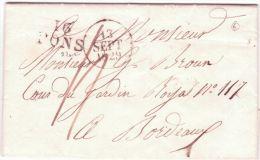 1817- Lettre De 16 / MARANS ( Char. Mar. ) 28x10 Mm Noir  Taxe 8 D. Pour Troyes - Marcophilie (Lettres)