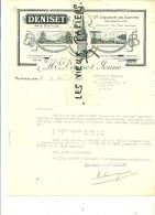 25 - Doubs - PONTARLIER - Facture DENISET - Anis Distillé - Liqueur De Sapins – 1944 - REF 9 - 1900 – 1949