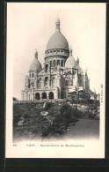 AK Paris, Sacré-Coeur De Montmartre, Ansicht Der Kirche Mit Gerüst - Edificio & Architettura