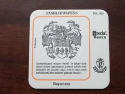 BUYSMANS Familiewapens N° 009 ( Brouwerij ROMAN - Sous Bock / Coaster / Onderlegger ) Zie Foto´s Voor Detail ! - Sous-bocks