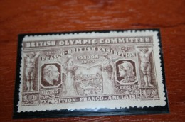 Olympic 1908  Vignette  Rare British Olympic Committee