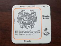 CORNELIS Familiewapens N° 016 ( Brouwerij ROMAN - Sous Bock / Coaster / Onderlegger ) Zie Foto´s Voor Detail ! - Sous-bocks