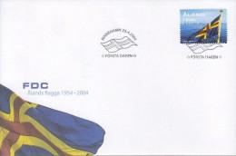 ALAND 2004 Flag  FDC - Aland