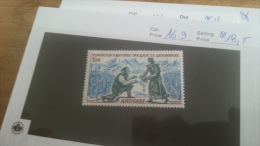 LOT 228195 TIMBRE DE ANDORRE NEUF** N�169 VALEUR 18,5 EUROS