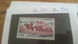 LOT 228197 TIMBRE DE ANDORRE NEUF** N�167 VALEUR 14 EUROS