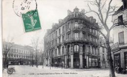Cpa  14 Caen , Le Boulevard Saint-pierre Et L'hotel Moderne - Caen