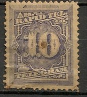 Timbres - Amérique - Etats-Unis - Télégraphes - 10 Cents. - - Telegraph Stamps