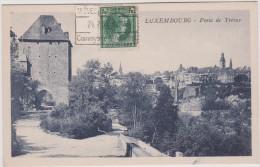 Luxembourg :  Porte  De  Treves   (  Timbre  ) - Postkaarten